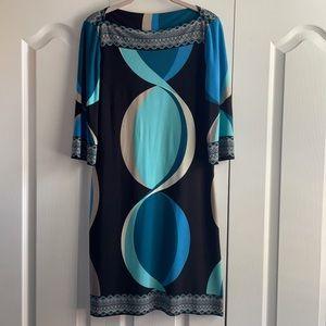 DONNA MORGAN Geometric A line Dress 4